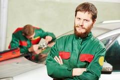 Windscreen repairman workers Royalty Free Stock Photo