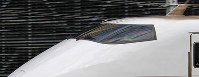 Windscreen of Shinkansen Stock Photos