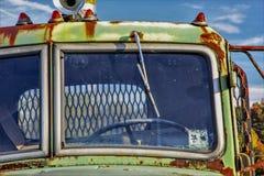 Windsheild del camion abbandonato immagini stock