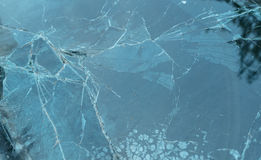Windshield of the burning car Royalty Free Stock Photography