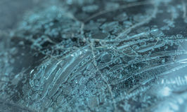 Windshield of the burning car Royalty Free Stock Photo