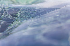 Windshield cracking Royalty Free Stock Photos