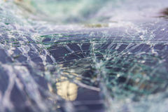 Windshield cracking due Royalty Free Stock Photography