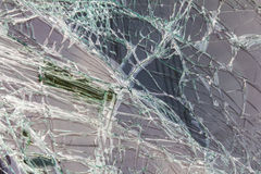Windshield cracking due. Background blur of windshield cracking due to an accident collided Royalty Free Stock Image