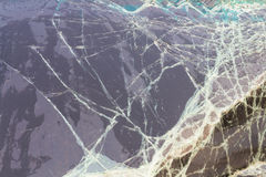 Windshield cracks accident Royalty Free Stock Photo