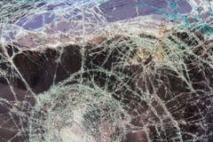 Windshield cracks accident Stock Photo