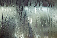 Windshield with rain drops Stock Images