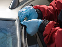 Windshield Repair royalty free stock images