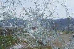 Windshield Vandalism Stock Image