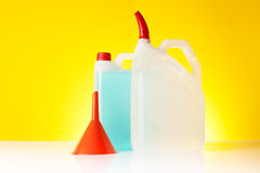 Windshield washer fluids Royalty Free Stock Photo