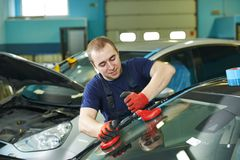 Windshield windscreen replacement Stock Image