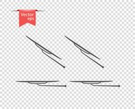 Windshield wiper in inclement weather. vector illustration, design elements on isolated transparent background. stock illustration