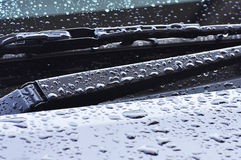 Windshield wiper after raining. Thailand stock photography