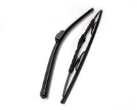 Windshield wipers one new style and one old style Stock Images