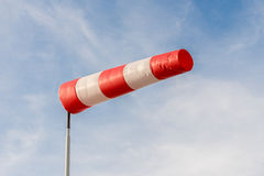 Windsock against a blue sky Royalty Free Stock Photo