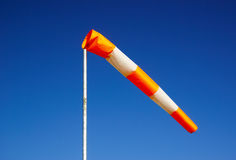 Windsock against clear sky Royalty Free Stock Photo
