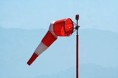 Windsock at airport Royalty Free Stock Photography