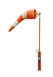 Windsock. Airport windsock on white background Royalty Free Stock Images