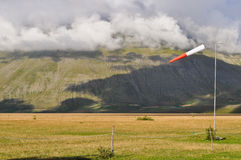Windsock in the Apennines landscapes Stock Image