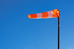 Windsock with blue sky Royalty Free Stock Photo