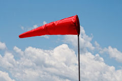 Windsock and clear sky royalty free stock image