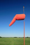 Windsock do aeroporto Imagens de Stock