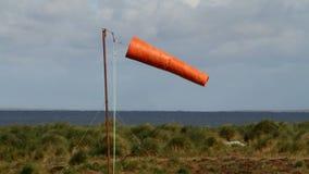 Windsock, Falkland Islands stock video