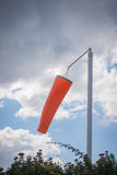 Windsock. In a light breeze by aerodrome Stock Photography