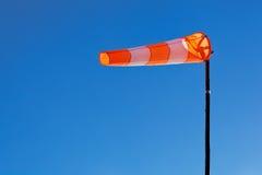 Windsock med blåttskyen Royaltyfri Foto