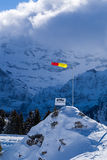 Windsock in the mountains, Apls. Windsock in the mountains, Portes du Soleil, Apls Stock Photos