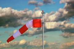 Windsock over stormy sky Royalty Free Stock Photos