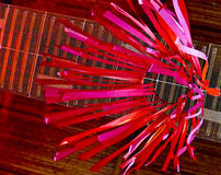 Windsock rosso astratto dell'aquilone Fotografia Stock