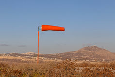 Windsock on Santorini island Royalty Free Stock Photos