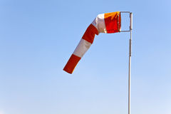 Windsock, Wind Sleeve. Windsock indicating wind direction and relative speed royalty free stock image