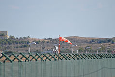 Airport Windsock For aircraft And Planes Flying Or Landing Royalty Free Stock Images