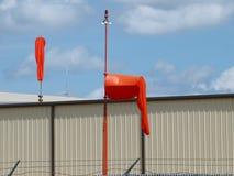 Windsok bij een Helihaven Stock Afbeeldingen