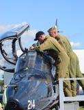 WINDSOR, ΚΑΝΑΔΑΣ - 10 ΤΟΥ ΣΕΠΤΕΜΒΡΊΟΥ, 2016: Άποψη του καναδικού στρατιωτικού αεριωθούμενου α Στοκ Φωτογραφίες