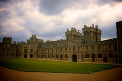 Windsor. Royal Castle in Windsor, England - stormy sky Royalty Free Stock Images