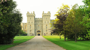 Windsor. Castle is a medieval castle and royal residence in  in the English county of Berkshire, notable for its long association with the British royal family Stock Photos