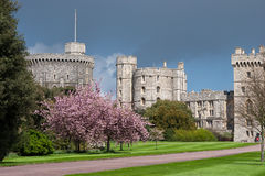 WINDSOR, BERKSHIRE/UK - APRIL 27 : Scenic view of Windsor Castle Royalty Free Stock Image