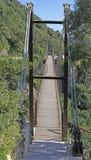 Windsor Bridge - Gibraltar`s suspension bridge. Located in the Upper Rock, Gibraltar stock photography