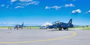 WINDSOR, CANADÁ - DE SEPT. EL 10 DE 2016: Vista panorámica del jet canadiense Imágenes de archivo libres de regalías