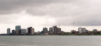 Windsor Canada Downtown City Skyline Casino Detroit River Royalty Free Stock Photography