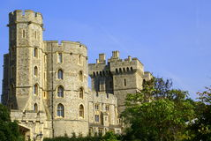Windsor castle. View from main gate Royalty Free Stock Images