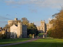 Windsor castle. Taken from the Long Ride on an Autumn evening royalty free stock image