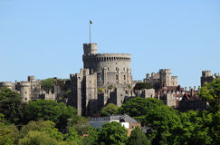 Windsor Castle. Originally built by William The Conqueror soon after his invasion of England in 1066 and is the favourite royal residence of Queen Elizabeth II Stock Photos