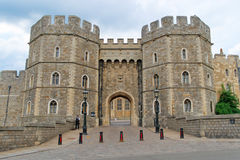 Windsor Castle. King Henry VIII Gate of Windsor Castle, the Official Residence of Her Majesty The Queen stock images