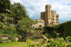 Windsor Castle. Along Windsor Castle which is one of the Queen of Englands official residencies Royalty Free Stock Photography