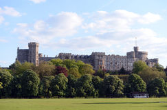 Windsor Castle. Scenic view of Windsor Castle with cloudscape background, Berkshire, England Royalty Free Stock Photo