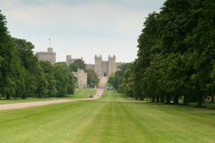 Windsor Castle. Is an official residence of The Queen and the largest occupied castle in the world Royalty Free Stock Photo